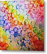 Rainbow Bubbles Metal Print