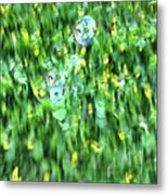 Rainbow Bubbles On The Grass Metal Print
