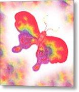Rainbow Buterfly Metal Print