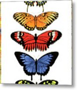 Rainbow Butterflies Metal Print