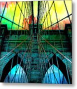 Rainbow Ceiling  Metal Print