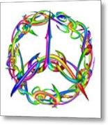 Rainbow Circle Metal Print