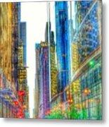 Rainbow Cityscape Metal Print