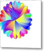 Rainbow Cluster Metal Print