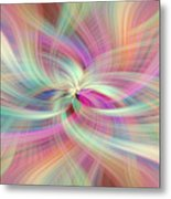 Rainbow Colored Abstract. Concept Divine Virtues Metal Print