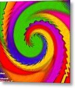 Rainbow Coloured Cock Swirl H A Metal Print