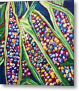 Rainbow Corn Metal Print
