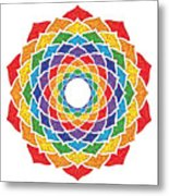 Rainbow - Crown Chakra - Pointillism Metal Print by David Weingaertner