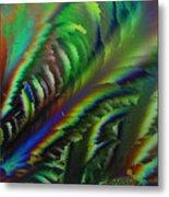 Rainbow Crystals Metal Print