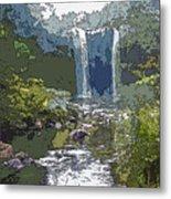 Rainbow Falls Green Metal Print
