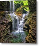 Rainbow Falls In Watkins Glen Metal Print
