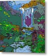 Rainbow Falls Purple Metal Print
