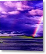 Rainbow Ferry Metal Print