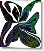 Rainbow Firefly Abstract Metal Print