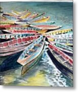 Rainbow Flotilla Metal Print