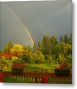 Rainbow From The Back Deck Metal Print