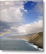 Rainbow From The Sea Metal Print