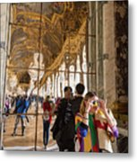 Rainbow Girl In The Hall Of Mirrors Metal Print
