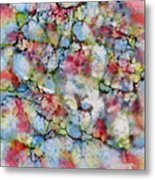 Rainbow Granite Metal Print