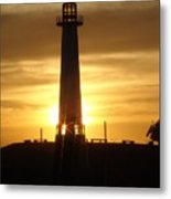 Rainbow Harbor Light House 2006 Metal Print