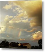 Rainbow House Metal Print