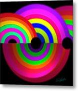 Rainbow In 3d Metal Print