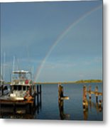 Rainbow In Apalachicola Fl Metal Print