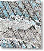 Rainbow In Blue Metal Print