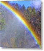 Rainbow In The Mist Metal Print