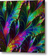 Rainbow Leaves Metal Print