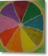 Rainbow Lemon Metal Print