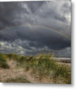 Rainbow Lighthouse Metal Print by Adrian Evans