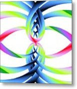 Rainbow Loops Metal Print