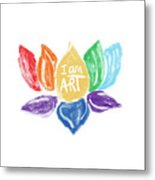 Rainbow Lotus I Am Art- Art By Linda Woods Metal Print