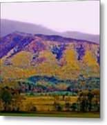 Rainbow Mountain Metal Print by DigiArt Diaries by Vicky B Fuller