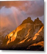 Rainbow Mountain In The Storm Metal Print