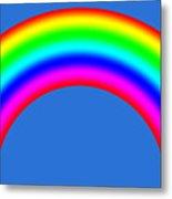 Rainbow On Sky Metal Print
