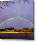 Rainbow On The Double Metal Print