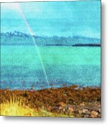 Rainbow On Videy Metal Print