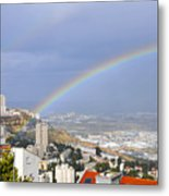 Rainbow Over Haifa, Israel  Metal Print