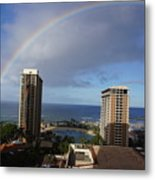 Rainbow Over Hilton Metal Print