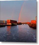 Rainbow Over Lawrence, Massachusetts Metal Print