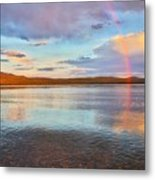 Rainbow Over Magalloway  Metal Print