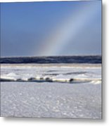 Rainbow Over The Arctic Metal Print