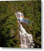 Rainbow Over Whitewater Falls Metal Print