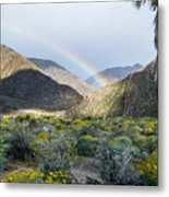 Rainbow Palm Metal Print