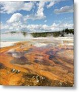 Rainbow Pool In Yellowstone National Park Metal Print