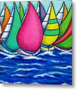 Rainbow Regatta Metal Print