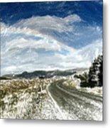 Rainbow Road - Id 16217-152040-7206 Metal Print