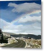 Rainbow Road - Id 16217-152042-9570 Metal Print